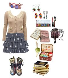 """Luna Lovegood"" by queenstormrider ❤ liked on Polyvore featuring Debenhams, Avalaya, Yuki, Dr. Martens, Luna and vintage"