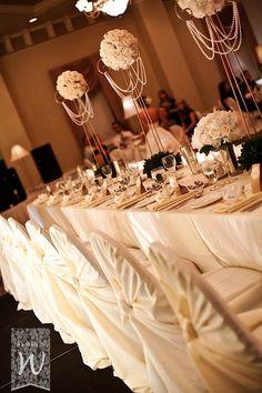 Simple, elegant wedding tablescape.
