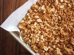 """Must try this easy granola recipe! -- Peanut Butter Granola by """"Healthy Food for Living"""""""