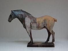Division of the Field -Nichola Theakston Ceramics. Horse Sculpture, Sculpture Clay, Pottery Sculpture, Pottery Art, Ceramic Animals, Ceramic Art, Sculptures Céramiques, Equine Art, Wildlife Art