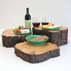 To use as a kids' table in the enchanted forest bedroom!!    Centerpiece Cake Stand Plate Pedestal Cheese by realwoodworks1, $148.00.  Can be made by the crafty!