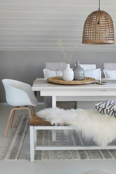 Beautiful neutral dining space
