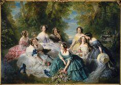 L'impératrice Eugénie entourée des dames d'honneur du palais Winterhalter Franz Xaver (1806-1873) Compiègne, château