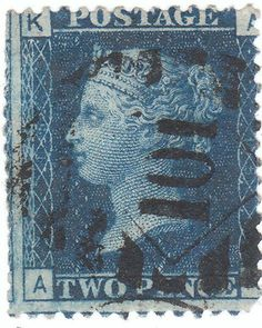 Stamp: Queen Victoria (United Kingdom of Great Britain & Northern Ireland) (Queen Victoria - Line Engraved) Mi:GB 17 Uk Stamps, Rare Stamps, Postage Stamps, Kingdom Of Great Britain, Penny Black, Queen Victoria, Stamp Collecting, Northern Ireland, United Kingdom