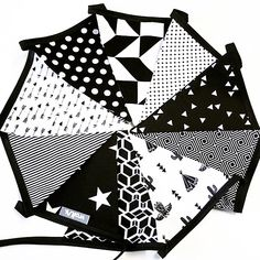 Zwart/wit vlaggenlijn Baby Kids, Mandala, Caravans, Sewing, Babyshower, Party, Diys, Projects, Crafts
