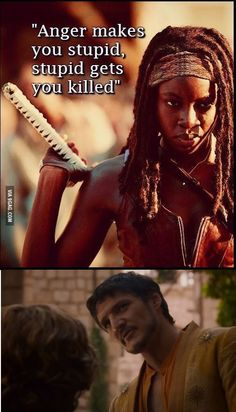 Wise Words Michonne.  Wise Words.