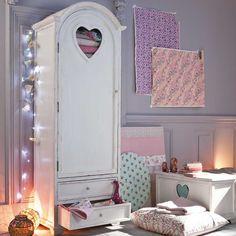 Dream Home Inspiration | Shabby Chic Storage Furniture | Heart Cut Armoire from Maisonsdumonde - Heart Handmade uk
