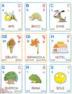 Our Italian Program Italian Vocabulary, Music Pics, Italian Language, Learning Italian, Book Activities, Alphabet, Kindergarten, Preschool, Writing