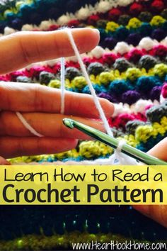 How to Read a Crochet Pattern - - The most daunting aspect of learning to crochet? Learning how to read a crochet pattern. Here's a step-by-step guide to get you started! Picot Crochet, Crochet Motifs, Crochet Stitches Patterns, Crochet Basics, Crochet For Beginners, Knit Or Crochet, Learn To Crochet, Crochet Crafts, Crochet Ideas