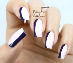Nail Art Tutorial, Nail Designs, Nail Art How To, French Manicure Cute Nail Art, Cute Nails, Fun French Manicure, French Manicures, French Tip Design, French Tips, Sexy Nails, Creative Nails, Nail Tutorials