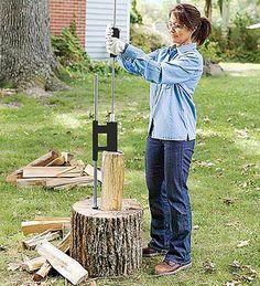 Smart Log Splitter-easier and safer than an axe or splitter & mallett. Cheaper than an electric or gas powered splitter! (and it looks fun too!)