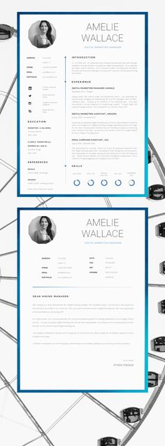 Resume Template | CV Template | Single Page Professional CV + Cover Letter…
