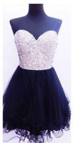 Beaded Blakc Homecoming Dress,Short Mini Homecoming Dresses