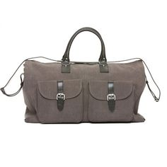 Waxed Canvas Garment Weekender Bag