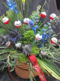 Fisherman tribute flowers by Marys Flowers, Saint Peter MN