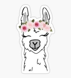 Stickers Discover Llama Sticker by scribble-monkey Stickers Cool, Red Bubble Stickers, Tumblr Stickers, Laptop Stickers, Planner Stickers, Printable Stickers, Llama Drawing, Frühling Wallpaper, Aesthetic Stickers