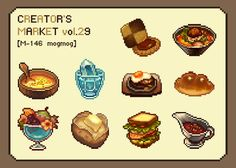 more detailed food pixel art means more appeal of it. unlocking famous dishes could be something very motivating, it's like the food animation of Muramasa game, the realistic aspect gives to the player the motivation to discover more dishes and is pleased to watch the animation of it. this could work for any type of food and give a sweet greedy appeal for the players. animation ref : https://www.youtube.com/watch?v=EIxr8zQqFbw