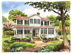 "Exclusively designed for Southern Living House Plans, ""Vintage Lowcountry,"" plan #1828"