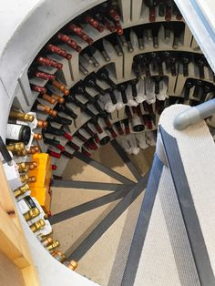 In-ground spiral wine cellar.  Brilliant. #wine