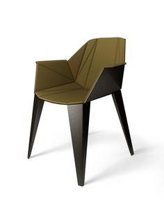 Alumni Alpha Chair, folded metal. Designed by Jesse Visser & Geke Lensink for Dutch label eQ+. Photo: eQ+