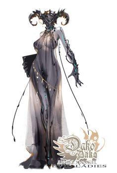 """""""My Evil Ladies-- Lucifer & The Zodiac of Hell Lucifer,Aries,Taurus,Gemini"""" Female Character Design, Character Design Inspiration, Character Concept, Character Art, Concept Art, Dark Fantasy Art, Fantasy Girl, Female Monster, Monster Girl"""