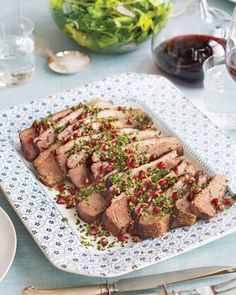 Meyer lemons give this brisket a slightly floral, not sour, flavor and aroma. Pomegranate-studded gremolata adds juicy bites of color.