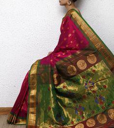 Pink Paithani Silk Saree!!!