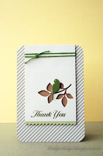 made by Katherine: Simple Memory box thank you card