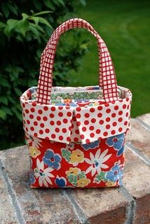 Small fabric gift bag. I have made these and they are darling, and pretty easy.
