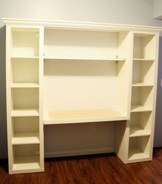 "How to build your own ""built-in"" desk from Ikea Billy Bookcases!"