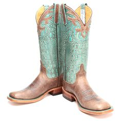 BootDaddy Collection with Anderson Bean Turquoise Bombshell Cowgirl Boots|All Womens Western Boots