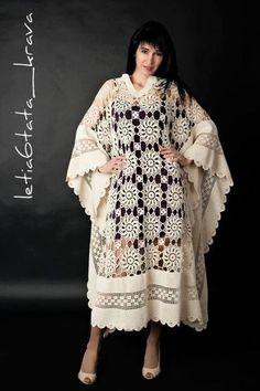 Crochet robe by FlyingcowBG on Etsy, $490.00