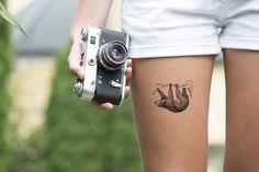 Sloth Temporary Tattoo by FantasticTats on Etsy