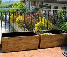 Fioriere in legno fai-da-te – Compagnia del Giardinaggio