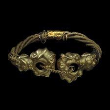 Gold torc from the Snettisham hoard: Iron Age, around 75 BC  From Ken Hill, Snettisham, Norfolk., England