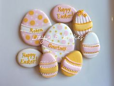 Lizy B: Personalized Easter Egg Cookies!