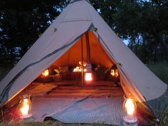 Tentipi Safir 9 Nordic Tipi by candlelight #camping #outdoors