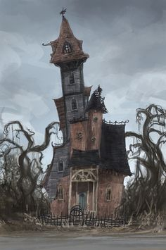 ArtStation - Count Olaf's House - A Series of Unfortunate Events, Jack Gallagher