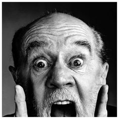 """George Carlin // """"I like it when a flower or a little tuft of grass grows through a crack in the concrete. It's so fuckin' heroic."""""""