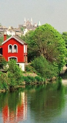 River Lee - Cork, Ireland I've always adored and wanted that Red House, sad to see it in disrepair these days....it will be mine, oh yes, it will be mine............. ;)