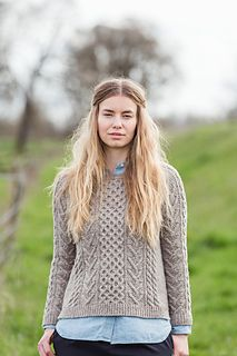 Bronwyn by Melissa Wehrle from Brooklyn Tweed's Wool People 10. Would use Shelter