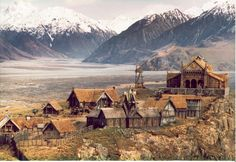 Edoras The city of Edoras was built on a hill in a valley of the White Mountains by Rohan's second King, Brego son of Eorl the Young. Before this, Rohan's capital was at Aldburg in the Folde...  ... It was here that Aragorn, Gimli, Legolas, and Gandalf met with King Théoden.