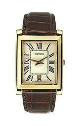 Seiko Strap Men's Quartz Watch SKP362P1 Seiko. $120.03. Brown Leather Strap. Date
