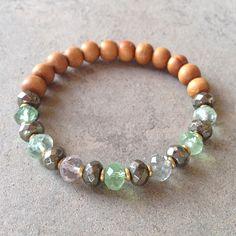 Sandalwood, Pyrite and Fluorite bracelet – Lovepray jewelry