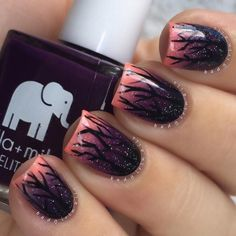 Spooky Silhouettes - Halloween Nails So Cool They'll Give You Chills - Photos