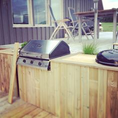 built-in BBQ grill