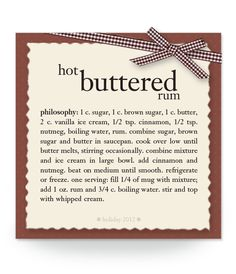 hot buttered rum #recipe #philosophy #holiday