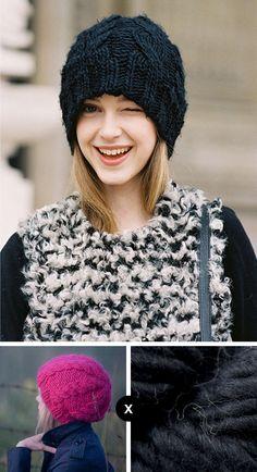how to knit jemma baines black cable beanie - vanessa jackman photo