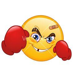 Illustration of Boxer emoticon vector art, clipart and stock vectors. Smiley Emoji, Smiley Emoticon, Emoticon Faces, Funny Emoji Faces, Funny Emoticons, Smileys, Smiley Faces, Emoji Pictures, Emoji Images
