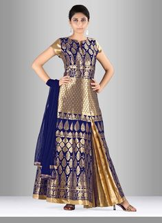 Women magnificence is magnified tenfold in such a silk anarkali suit. The lovely…